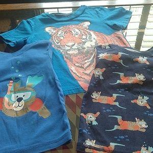 Carter's and Circo, boy's 4T pajama/shirt lot